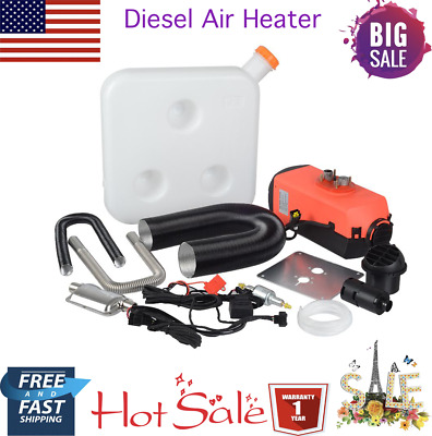 12V 2KW Diesel Air Heater Tank,Vent,Duct,Thermostat,Silencer,Caravan,Filter WV