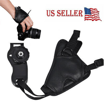 Cameras Leather Hand Grip Wrist Strap for Canon Nikon Sony Olympus DSLR Padded
