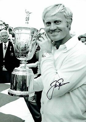 Jack NICKLAUS SIGNED Autograph 12x8 RARE Photo AFTAL GOLF US Open Winner