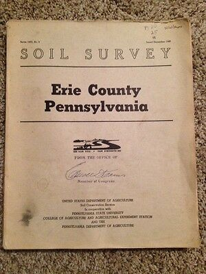 Soil Survey Erie County Pa Congressman Caroll Kearns 1960 1957 Map Penn State Ag