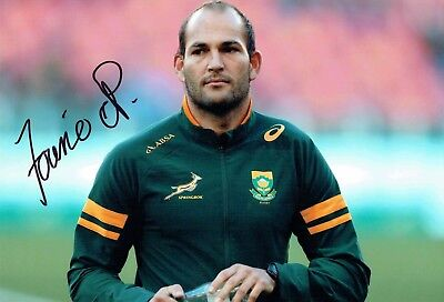 Fourie Du PREEZ Signed Autograph 12x8 Photo 1 AFTAL COA  South African RUGBY