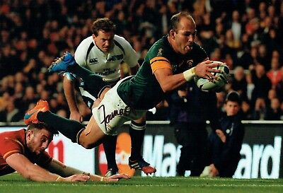 Fourie Du PREEZ Signed Autograph 12x8 Photo 3 AFTAL COA  South African RUGBY