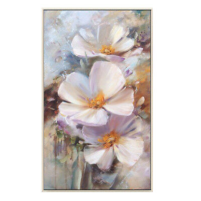 YA001 Modern 100% Hand-painted abstract oil painting Pink Flower Home decoration