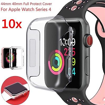 Lot For Apple Watch Series 5 4 3  Case iwatch TPU Screen Protector 40/44mm Clear