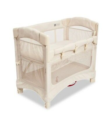 Arm's Reach Mini Ezee 2 IN 1 Baby Co-Sleeper Bedside Bassinet Natural NEW