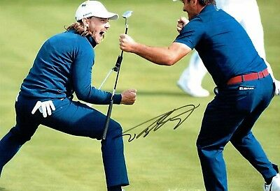 Tommy FLEETWOOD Signed Autograph Photo 1 GOLF AFTAL COA 2018 Ryder Cup Winner