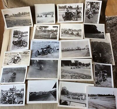 Vintage Original INDIAN Motorcycle Race Old Photographs Harley Photos Pictures
