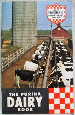 Ralston Purina Company Dairy Cow Farming Advertising Brochure 1962 Vintage