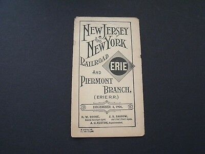 VTG 1904 NJ and NY Railroad & Piermont Branch (Erie RR) Time Tables