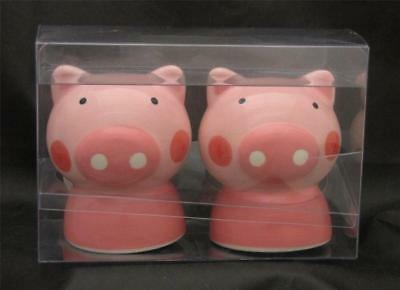 PINK PIGS Piggies Salt & Pepper Shakers - Unused, In Pkg