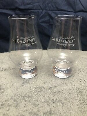 Balvenie 2 scotch/whisky tasting/sniffing glasses 6oz (The Glencairn) MAKE OFFER