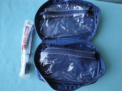 US Air & US Airways*Toothbrush*Travel bag toiletry toothpaste Colgate airplane