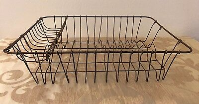 Primitive Wire Kitchen Sink Dish Drainer Drying Rack Farmhouse-Antique-Vintage