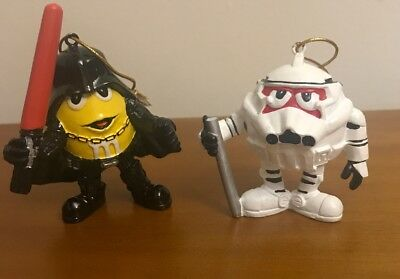 M&Ms Halloween Costumes Star Wars 2005 Lucas Films Collectible Ornaments Lot 2