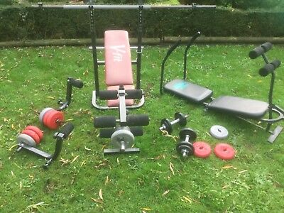 V fit weight lifting equipment bench weights