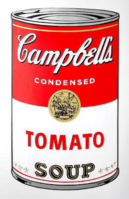 ANDY WARHOL Pop Art - Sunday B Morning - Campbell's Soup Can Tomato + COA