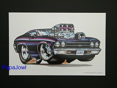 """Muscle Machines Print Art Poster 1969 Chevrolet Chevelle Rohan Day 11"""" by 17"""""""