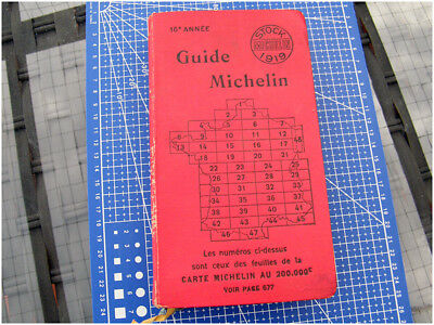 Guide rouge Michelin 1919