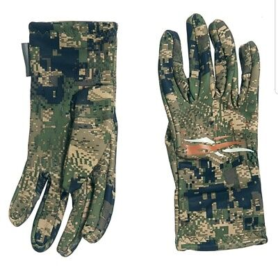 Sitka Mens Traverse Liner Gloves Gore Optifade Ground Forest Camo M L Or XL NWT