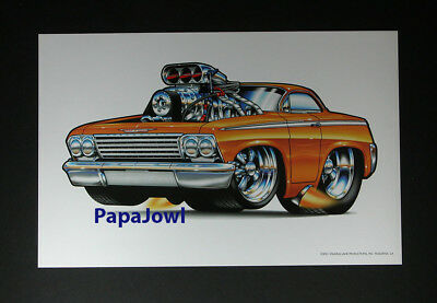 """1962 chevrolet Bubble Top Muscle Machines Prints Art Poster 11"""" by 17"""""""