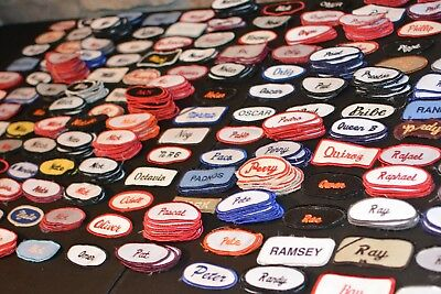 Employee Embroidered Name Shirt Patches Tag for Uniform Jacket Worker Contractor