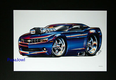 """2009 Chevrolet Camaro Chevy Muscle Machines Prints Art Poster 11"""" by 17"""""""