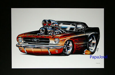 """1965 Ford Mustang Muscle Machines Prints Art Poster 11"""" by 17"""""""