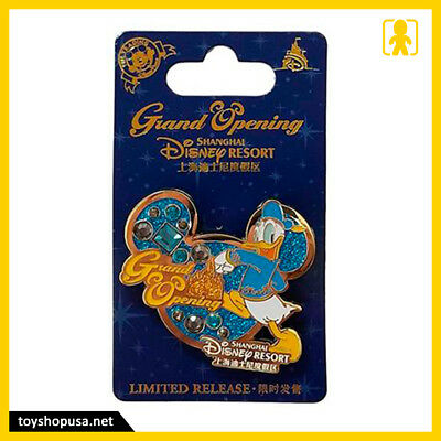 Disney Shanghai Resort Grand Opening Donald Duck Pin Limited Release New