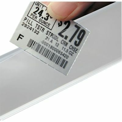 HUBERT Wire Label Holder For Freezer or Dairy Case White Plastic Covered Face 29