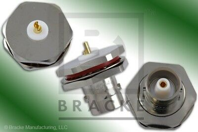 C Female Bulkhead Rear Mount Connector Solder Cup Contact BRACKE BM60842