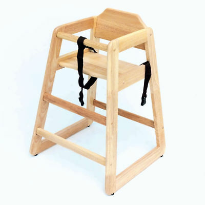 Adcraft Natural Solid Hardwood High Chair,  HC-1