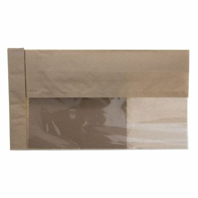 """DublView ToGo! Natural Kraft Paper Sandwich Bags With Trays - 5 3/4""""L x 2 3/4""""D"""