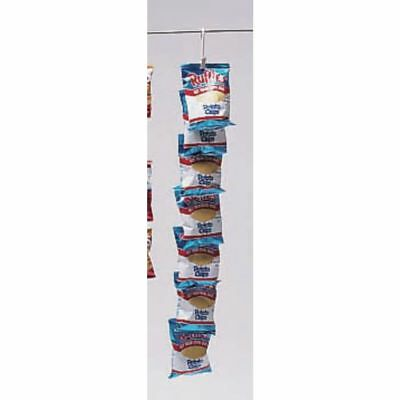 "Potato Chip Display Rack With Clips Beige - 31""L"