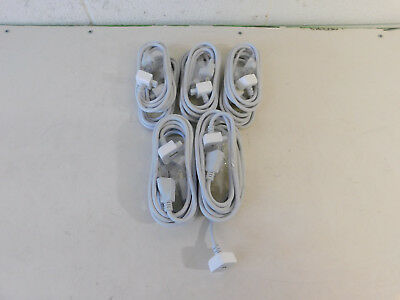Lot of 10 Genuine OEM Apple MagSafe 45W 60W 85W Power Adapter 6Ft Extension Cord