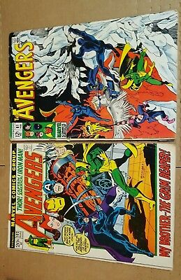 Marvel Avengers  61 and 102 Marvel Comics Group