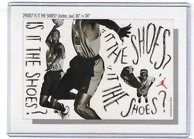 1990s NIKE MICHAEL JORDAN SPIKE LEE POSTER CARD IS IT THE SHOES AD 290837