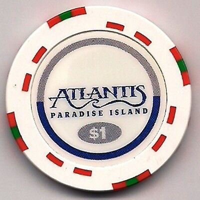 "Casino Chip  ""$1"" ATLANTIS Paradise Island OBSOLETE- NO LONGER USED"