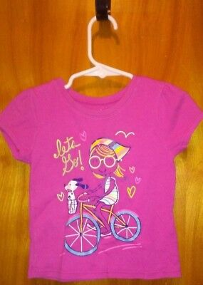 Girl's Size 24 Months Shirt Girl on Bicycle by Garanimals