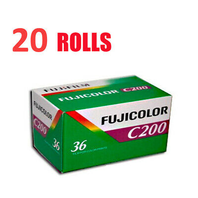 20 Rolls Fujifilm FujiColor C200 35mm-36Exp 135-36Color Print Film Fresh 2022