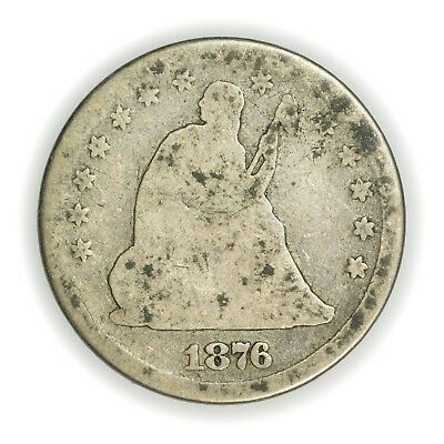 1876 Seated Liberty Quarter, Circulated Silver Coin [3579.52]