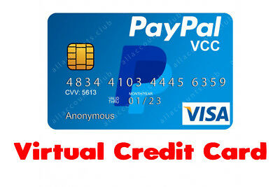 Verified PayPal Account - Virtual Credit Card VCC - Verify PayPal Worldwide