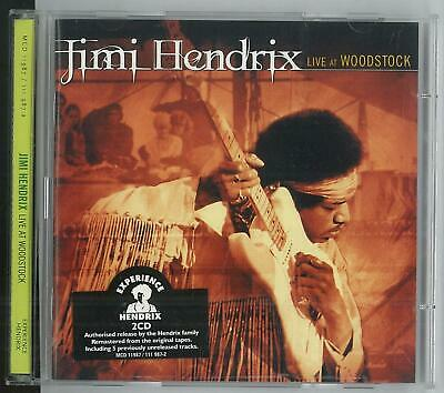 Jimi Hendrix Live At Woodstock Mcd 11987/111987-2 1999 2 Cd Excellent D'occasion