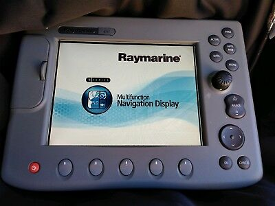 Raymarine C80 Chartplotter West Coast Chart, Cover, Operating Guide, Power Cable