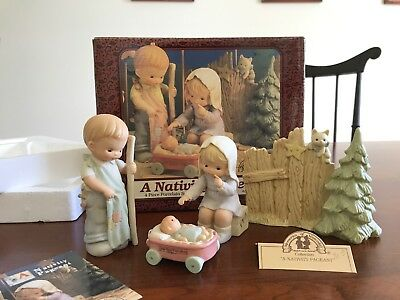 Memories of Yesterday 1994 A Nativity Pageant4 Piece Figurine Set