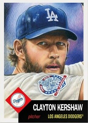 2018 Topps Living Set 95 Clayton Kershaw Los Angeles Dodgers