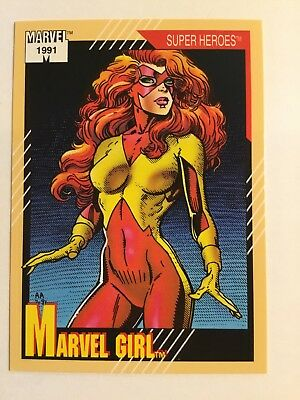Marvel Comics 1991 Impel Universe Series 2 #4 Marvel Girl Trading Card