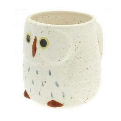 NEW SNOW OWL Ceramic 12 oz. Mug Winter White Adorable