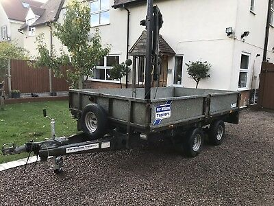 Ifor Williams Lt105 Hi-ab Crane Trailer Plant Tractor Lifting Logs Dumper Ramps