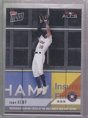 2018 Topps NOW MLB 893 Tony Kemp Incredible Leaping Catch at the Wall