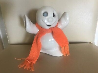 Rare McCoy Limited Ghost White glaze Candle ~ Halloween